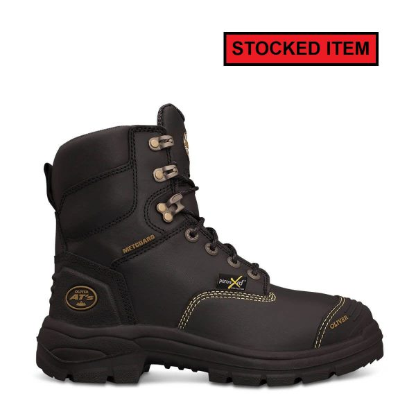 0d6c62f9f86 Oliver Black AT Lace Up Metatarsal Safety Boot 55346
