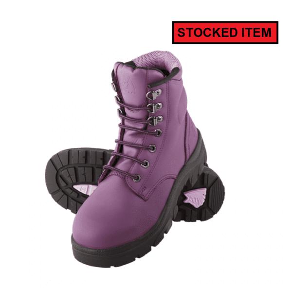 141f5c5e470 Steel Blue Ladies Argyle Purple Safety Boot 512702