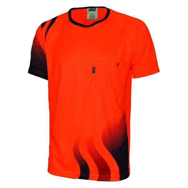 Dnc Wave Hi Vis Sublimated T Shirt D3562 Newcastle
