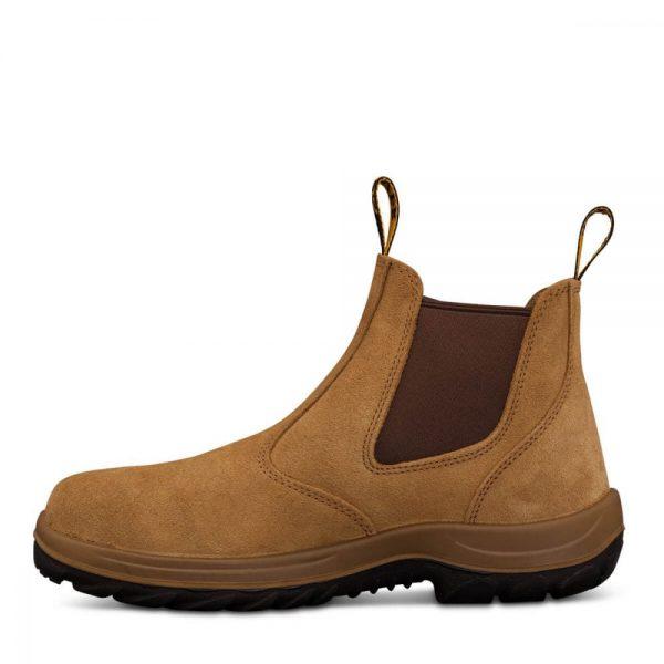 Oliver Beige Elastic Sided Safety Boot
